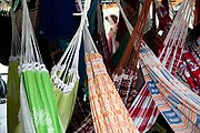 Hammocks hung on a passenger boat going through the Amazon from Belem to Altamira