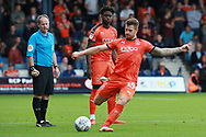 Luton Town attacker James Collins (19) during the EFL Sky Bet League 1 match between Luton Town and Bristol Rovers at Kenilworth Road, Luton, England on 15 September 2018.