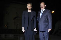November 10, 2018 - Paris, France - Prince Albert II de Monaco et sa femme Charlene (Credit Image: © Panoramic via ZUMA Press)