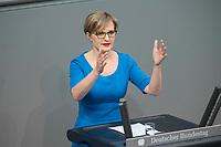 21 MAR 2019, BERLIN/GERMANY:<br /> Dr. Franziska Brantner, MdB, B990/Gruene, haelt eine Rede, <br /> Bundestagsdebatte zur Regierungserklaerung der Bundeskanzlerin zum Europaeischen Rat, Plenum, Deutscher Bundestag<br /> IMAGE: 20190321-01-113