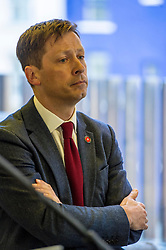 Pictured: John Edward<br /> Scottish launch of the campaign for people across the UK to have the final say on Brexit in a 'People's Vote'. Moderated by the incoming chair of the Chair of the European Movement in Scotland, Mark Lazaowicz, speakers included Dr Kirsty Hughes, director of the Scottish Centre on European Relations; Georgie Harris, Vice President Community of the University of Edinburgh Studenst Association and John Edward, former head of the European Parliament Office in Scotland. <br /> <br /> Ger Harley | EEm Date