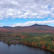 Mt. Chocorua and Lake Chocorua were frequent subjects of the 19th century White Mountain School of painters, but never from 400 feet in the air.. The peak at 3490 feet has a bare rocky summit giving it an alpine appearence.