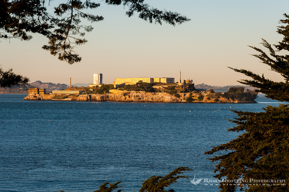 United States, California, San Francisco. Alcatraz in the background.