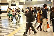 Commuters at Osaka train station and mall, Osaka Japan
