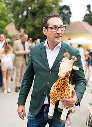 """27.06.2017, Tiergarten Schönbrunn, Wien, AUT, Übernahme Giraffen Patenschaft im Tiergarten Schönburnn durch FPÖ Bundesobmann Strache mit Frau Philippa. im Bild Klubobmann FPÖ Heinz-Christian Strache // Leader of the austrian right wing party FPOe Heinz Christian Strache and his wife Philippa taking a sponsorship for giraffes at the zoo vienna """"Schoenbrunn"""" in Vienna, Austria on 2017/06/27. EXPA Pictures © 2017, PhotoCredit: EXPA/ Michael Gruber"""