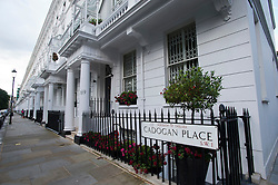 © London News Pictures. 10/07/2012. London, UK. Cadogan Place in Belgravia, West London  where the body of Tetra Pak heir EVA RAUSING was found at a property yesterday. The Hans Kristian Rausing the Husband of EVA RAUSING has been arrested in connection with the death and is being questioned by police. Photo credit: Ben Cawthra/LNP.