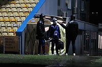 The game was called off because of a water logged pitch<br /> <br /> Photographer Mick Walker/CameraSport<br /> <br /> The EFL League 2 - Mansfield Town v Bolton Wanderers  - Tuesday 2nd February  2021 - One Call Stadium-Mansfield<br /> <br /> World Copyright © 2020 CameraSport. All rights reserved. 43 Linden Ave. Countesthorpe. Leicester. England. LE8 5PG - Tel: +44 (0) 116 277 4147 - admin@camerasport.com - www.camerasport.com