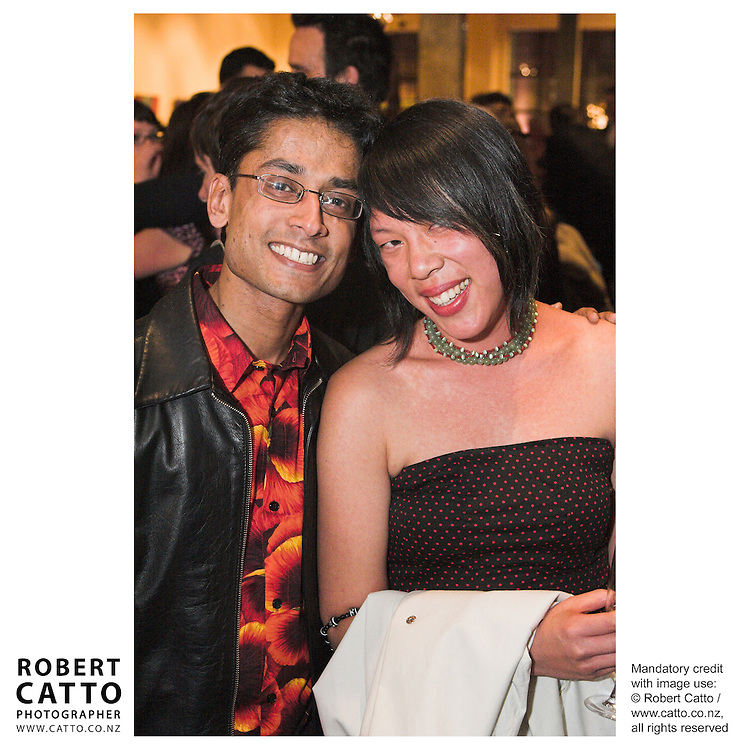 Tze Ming Mok at the Arts Foundation of New Zealand New Generation Awards at the St James Theatre, Wellington, New Zealand.<br />