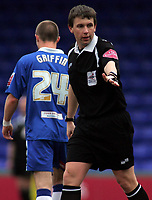 Photo: Paul Thomas.<br />Stockport County v Hartlepool United. Coca Cola League 2. 17/03/2007.<br /><br />Referee G J Sutton, did he make some interesting decisions this afternoon??