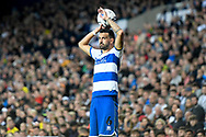 QPR defender Yoann Barbet (6) takes a throw-in during the EFL Sky Bet Championship match between West Bromwich Albion and Queens Park Rangers at The Hawthorns, West Bromwich, England on 24 September 2021.