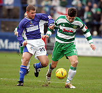 Fotball<br /> England 2004/2005<br /> Foto: SBI/Digitalsport<br /> NORWAY ONLY<br /> <br /> Macclesfield Town v Yeovil Town, Macclesfield. Coca Cola League Two. 05/02/2005. <br /> <br /> Alan Navarro and Phil Jevons