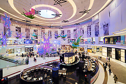 Christmas decorations at Dubai Mall Fashion Avenue , Downtown Dubai, United Arab Emirates