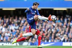 21 October 2017 - Premier League Football - Chelsea v Watford - Alvaro Morata of Chelsea controls the ball - Photo: Charlotte Wilson / Offside