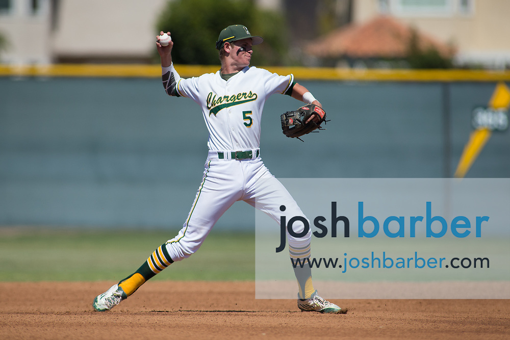 Edison's Ted Burton during the CIF-SS Division 2 Quarterfinal: Palm Desert v Edison at Edison High School on Friday, May 26, 2017 in Huntington Beach, Calif. (Photo by Josh Barber, Contributing Photographer)