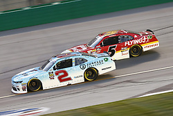 July 13, 2018 - Sparta, Kentucky, United States of America - Matt Tifft (2) and Michael Annett (5) battle for position during the Alsco 300 at Kentucky Speedway in Sparta, Kentucky. (Credit Image: © Chris Owens Asp Inc/ASP via ZUMA Wire)