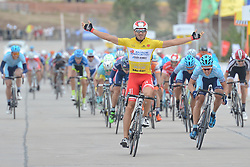 September 10, 2016 - Fengning, China - Italian Marco Benfatto from Androni-Giocattoli Team wins the second stage, 157.8 km Weichang-Fengning, of the 2016 Tour of China 1...The second stage of the Tour of China starts in Yudaokou, in Weichang county, located at the far northeastern Hebei province. The area has been historically home to Manchu soldiers. ..The stage finishes in Fengning county, in front of Great Khan palace on north grassland of the country...On Saturday, 10 September 2016, in Fengning, China. (Credit Image: © Artur Widak/NurPhoto via ZUMA Press)