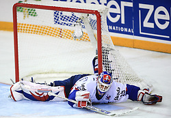 Goalkeeper Jan Lasak of Slovakia at ice-hockey game Slovenia vs Slovakia at second game in  Relegation  Round (group G) of IIHF WC 2008 in Halifax, on May 10, 2008 in Metro Center, Halifax, Nova Scotia, Canada. Slovakia won after penalty shots 4:3.  (Photo by Vid Ponikvar / Sportal Images)