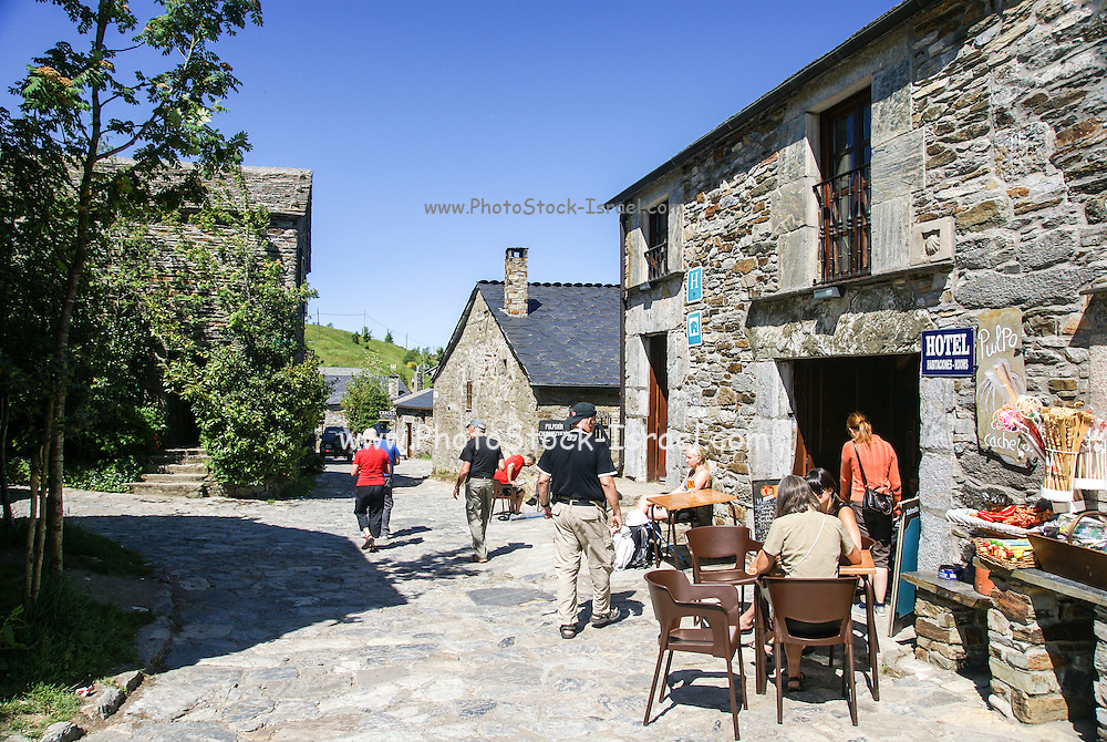 Traditional stone house, Pedrafita do Cebreiro, Galicia, Spain