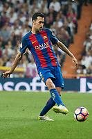 Sergio Busquets of FC Barcelona during the match of La Liga between Real Madrid and Futbol Club Barcelona at Santiago Bernabeu Stadium  in Madrid, Spain. April 23, 2017. (ALTERPHOTOS)