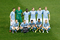 Malmo´s players before Champions League soccer match between Atletico de Madrid and Malmo at Vicente Calderon stadium in Madrid, Spain. October 22, 2014. (ALTERPHOTOS/Victor Blanco)