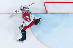 Ondrej Pavelec of Czech Republic during Ice Hockey match between Canada and Czech Republic at Semifinals of 2015 IIHF World Championship, on May 16, 2015 in O2 Arena, Prague, Czech Republic. Photo by Vid Ponikvar / Sportida