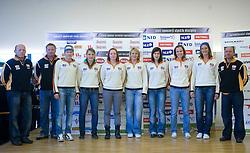 Women Slovenian Alpine Ski Team before new season 2008/2009, on Septembra 25, 2008, Ljubljana, Slovenia. (Photo by Vid Ponikvar / Sportal Images)