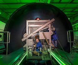 May 23, 2019, Promontory, Utah, U.S.: NASA and Northrop Grumman technicians in Promontory, Utah, have applied insulation to the final booster motor segment for the second flight of NASA's deep space rocket, the Space Launch System, and NASA's Orion spacecraft. The insulation, applied to the interior of each steel motor segment, protects the casing from the heat generated by the propellant during launch and flight. The twin, five-segment solid rocket motor boosters for SLS are the largest, most powerful solid propellant boosters ever built. SLS uses both liquid and solid propellant to provide the thrust needed to launch the vehicle and send it to space. NASA is targeting 2022 to test SLS with astronauts aboard the Orion spacecraft. (Credit Image: ? NASA/ZUMA Wire/ZUMAPRESS.com)