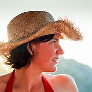Cowboy hat girl (Simena (Kale), Turkey - Jul. 2008) (Image ID: 080713-1928402a)