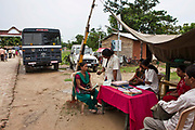 Manav Seva Sansthan, MSS, staff engage with migrants crossing the border into India from Nepal. They work along side the Indian border security agency, SSB, to give people information and advice on anti trafficking.