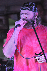 Steve McGrath doing a lead vocal. The Happening perform the Elks Club Octoberfest at the Apple Festival. Southington CT 4 October 2009.