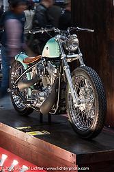 Asterisk Custom Works' Hideki Hoshikama's custom 1998 Harley-Davidson 883 Sportster at the Mooneyes Yokohama Hot Rod & Custom Show. Yokohama, Japan. December 3, 2016.  Photography ©2016 Michael Lichter.