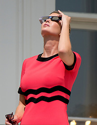 Ivanka Trump looks at the partial eclipse of the sun from the Blue Room Balcony of the White House in Washington, DC, USA, on Monday, August 21, 2017. Photo by Ron Sachs/CNP/ABACAPRESS.COM