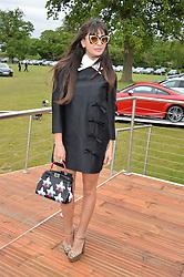 ZARA MARTIN at the Audi Polo Challenge at Coworth Park, Blacknest Road, Ascot, Berkshire on 31st May 2015.