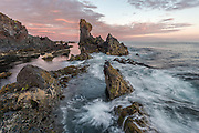 Djúpalónssandur is a bay near Dritvík. The biggest rock formation is Kerling (old woman). Taken in west-Iceland