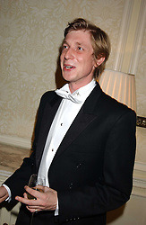 PRINCE MAX ZU SALM at a dinner hosed by Moet & Chandon at their headquarters at 13 Grosvenor Crescent, London on 12th October 2005.<br />
