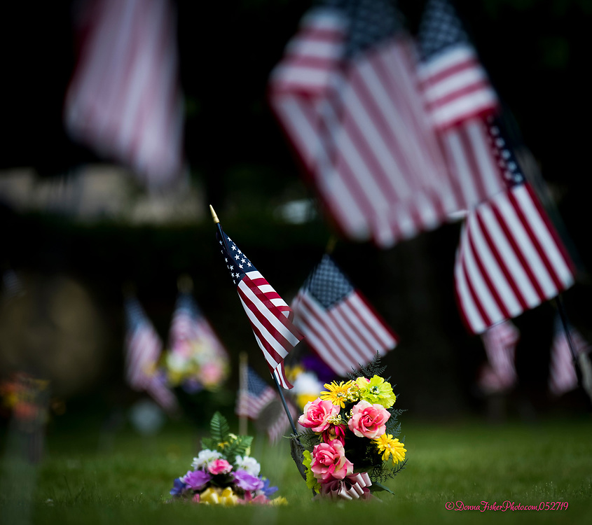 Memorial Day in Cedar Hill Memorial Park, Airport Road, Allentown, Pa., Monday, May 27, 2019.<br /> - Photography by Donna Fisher.<br /> - Donna Fisher Photography, LLC                      - donnafisherphoto.com