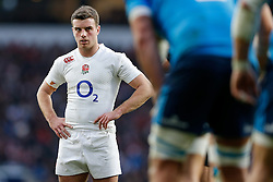 England Fly-Half George Ford looks on - Photo mandatory by-line: Rogan Thomson/JMP - 07966 386802 - 14/02/2015 - SPORT - RUGBY UNION - London, England - Twickenham Stadium - England v Italy - 2015 RBS Six Nations Championship.