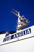 Tor Anglia ferry ship detail of sign and communication equipment, 1970 Gothenburg- Immingham service