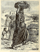 Women of the Hill Country of Judaea From the book 'Those holy fields : Palestine, illustrated by pen and pencil' by Manning, Samuel, 1822-1881; Religious Tract Society (Great Britain) Published in 1873