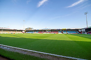 A general view inside Glanford Park before during the The FA Cup 1st round match between Scunthorpe United and Burton Albion at Glanford Park, Scunthorpe, England on 10 November 2018.