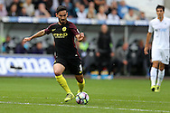 Ilkay Gundogan of Manchester city in action. Premier league match, Swansea city v Manchester city at the Liberty Stadium in Swansea, South Wales on Saturday 24th September 2016.<br /> pic by Andrew Orchard, Andrew Orchard sports photography.