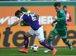 23.10.2016, Allianz Stadion, Wien, AUT, 1. FBL, SK Rapid Wien vs FK Austria Wien, 12 Runde, im Bild Christoph Martschinko (FK Austria Wien) und Thomas Murg (SK Rapid Wien) // during Austrian Football Bundesliga Match, 12th Round, between SK Rapid Vienna and FK Austria Wien at the Allianz Stadion, Vienna, Austria on 2016/10/23. EXPA Pictures © 2016, PhotoCredit: EXPA/ Thomas Haumer