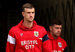 Aden Flint of Bristol City and Frank Fielding of Bristol City arrive at Barnsley - Mandatory by-line: Robbie Stephenson/JMP - 30/03/2018 - FOOTBALL - Oakwell Stadium - Barnsley, England - Barnsley v Bristol City - Sky Bet Championship