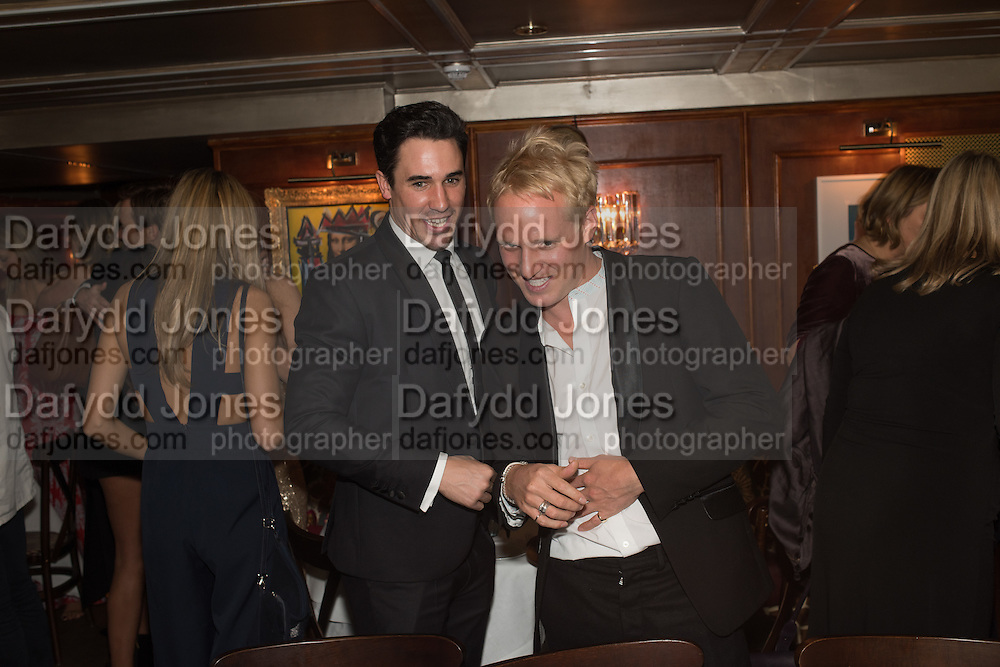 JOANATHAN JOSEPH; JAMIE LAING, Fraser Caruthers  and Harry Scofield birthday. Archie's club, 92b Old Brompton Rd. London. 11 February 2017