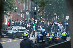 licensed to London News Pictures. London, UK. 8th August 2011. Rioting in Hackney, London. Violence around Mare Street and the Penbury Estate in Hackney, East London. Please see special instructions for usage rates. Photo credit should read Jules Mattsson/LNP