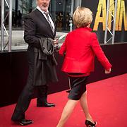 NLD/Amsterdam/20140508 - Wereldpremiere Musical Anne, Nina Brink en partner Pieter Storms