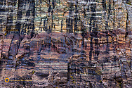 Sediment layering in Swiftcurrent Mountain in Glacier National Park, Montana, USA