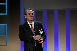Actor Tommy Lee Jones receives the Donostia prize, during the San Sebastian Film Festival, September 28, 2012. Photo By Nacho Lopez / DyD Fotografos / i-Images. SPAIN OUT