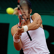 Sam Stosur of Australia in action during the second round of the French Open Tennis Tournament in Paris, France on Thursday, May 28, 2009. Photo Tim Clayton.