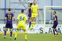 Aleksander Rajcevic of Maribor vs Benjamin Morel of Domzale during football match between NK Domzale and NK Maribor in 25th Round of Prva liga Telekom Slovenije 2014/15, on March 22, 2015 in Sports park Domzale, Slovenia. Photo by Vid Ponikvar / Sportida